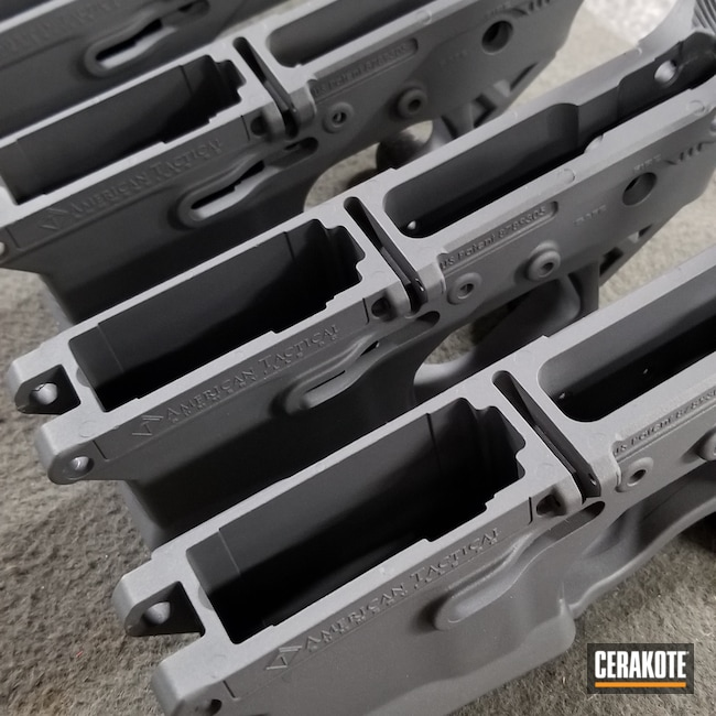 Cerakoted: SHOT,Stone Grey H-262,AR-15 Grip,Upper,Production,AR-15,AR15 Lower,AR15 Parts,Production Run