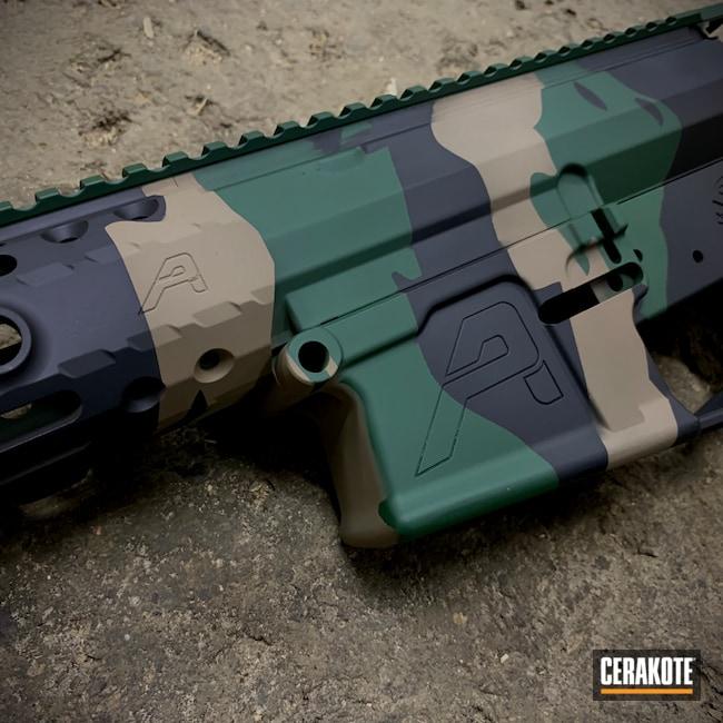 Cerakoted: S.H.O.T,Aero Precision,Graphite Black H-146,AR-10,Tactical Rifle,Flat Dark Earth H-265,.308,AR-15
