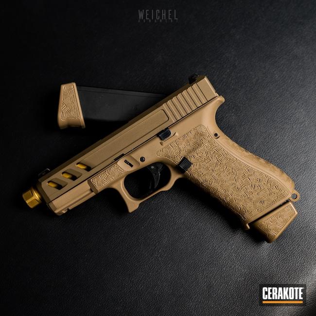 Cerakoted: S.H.O.T,Noveske Tiger Eye Brown H-187,MAGPUL® FLAT DARK EARTH H-267,TROY® COYOTE TAN H-268,G19x,Pistol,Glock,Firearms,A.I. Dark Earth H-250,Handgun,Glock 19X