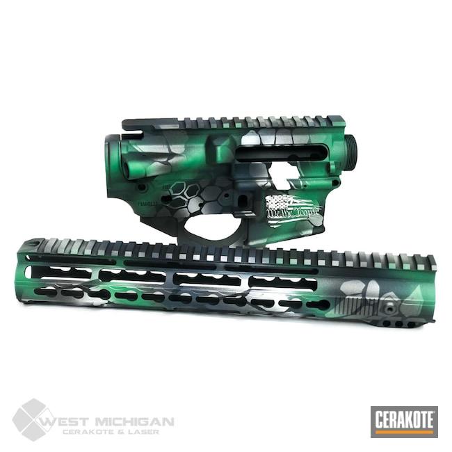 Cerakoted: SHOT,Sniper Grey H-234,Kryptek,Upper / Lower / Handguard,Firearm,Armor Black H-190,Gun Parts,SQUATCH GREEN H-316,Firearms