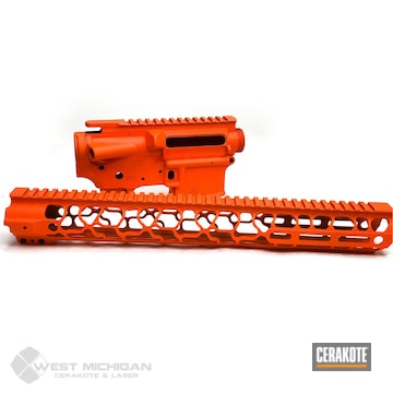 Cerakoted Orange Upper / Lower / Handguard