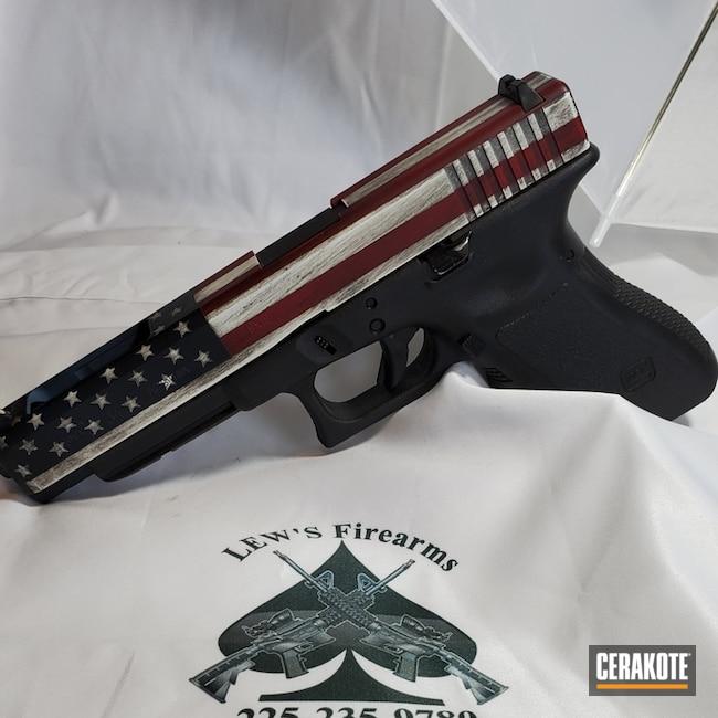 Cerakoted American Flag Glock Handgun