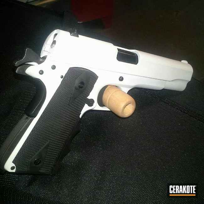 Cerakoted: Bright White H-140,SHOT,Pistol,1911,45 ACP