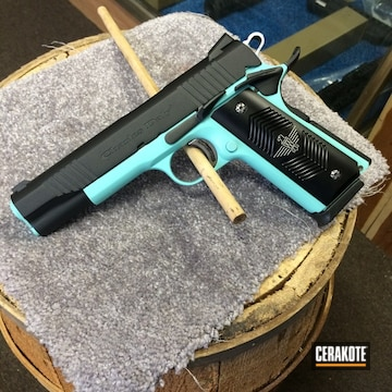 Cerakoted Charles Daly 1911 Handgun In H-175 And H-190