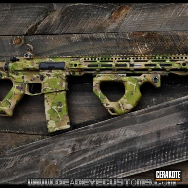 Custom Cerakoted Multicam Ar