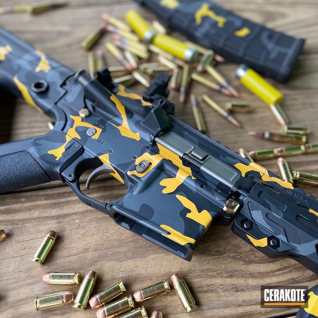 Cerakoted: Palmetto State Armory,Sniper Grey H-234,Electric Yellow H-166,Graphite Black H-146,5.7x28,Stainless H-152,Crimson H-221,Custom Camo,5.56,AR-15