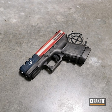 Cerakoted Custom Glock In H-167, H-237, H-242, H-146 And H-127