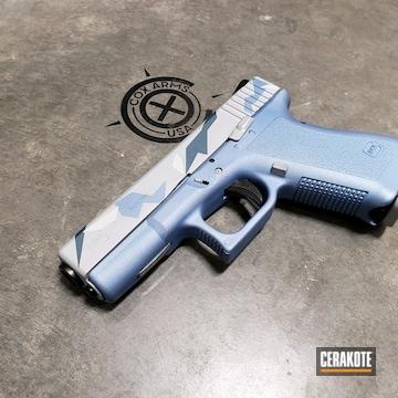 Cerakoted Glock 23 Splinter Camo In H-242, H-255, H-185 And H-326