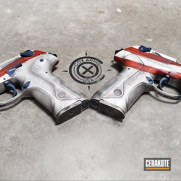 Cerakoted Distressed American Flag Px4 Storm Handguns