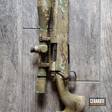 Cerakoted Multicam Bolt Action Rifle