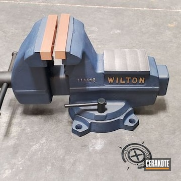 Cerakoted Wilton Vise In H-315 And H-122