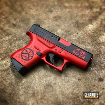Cerakoted Two Toned 9mm Glock Handgun In H-146 And H-306