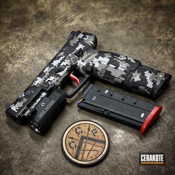 Cerakoted Digicam Fn 5.7 Handgun In H-234, H-262, H-146 And H-216