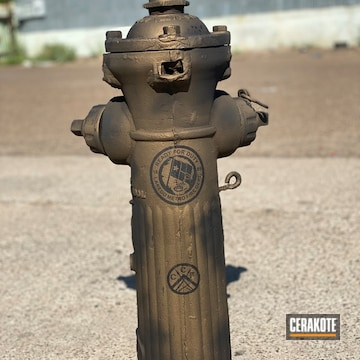 Cerakoted Battleworn Fire Hydrant In H-146 And H-148