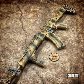 Cerakoted Custom Ak-47 Rifle In H-200, H-199 And H-226