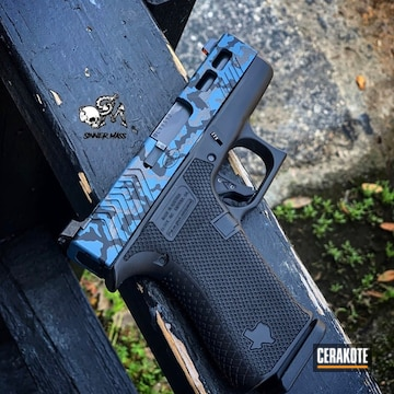 Cerakoted Glock Multicam In H-237, H-146 And H-185