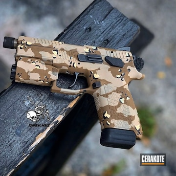 Cerakoted Cerakote Cz Desert Multicam In H-146, H-203 And H-142