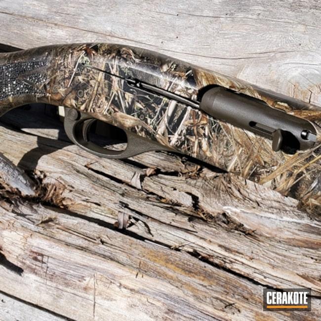 Cerakoted Remington 20 Gauge Shotgun In Mc-161 And H-226