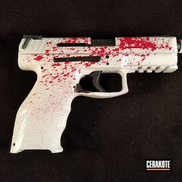 Cerakoted Blood Splatter Theme H&k Vp9 Tactical