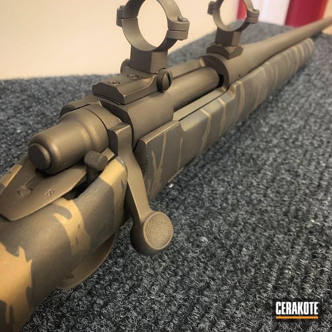 Cerakoted: Tiger Stripes,Bolt Action,H-S Precision Stock,Burnt Bronze H-148,Rem 700,.300 Winchester Magnum,Armor Black H-190,Remington 700 Police,Remington,Midnight Bronze H-294