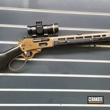 Cerakoted Marlin .45-70 Rifle In H-148 And H-190