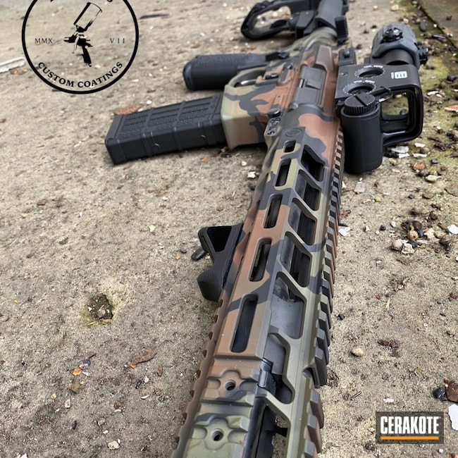 Cerakoted: MULTICAM® BRIGHT GREEN H-343,Graphite Black H-146,.223,MULTICAM® DARK BROWN H-342,Primary Weapons Systems