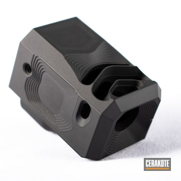Cerakoted Black Custom Glock Compensator