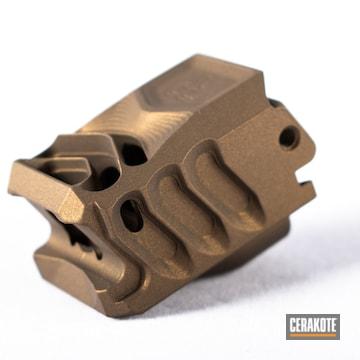 Cerakoted Bronze Glock Compensator