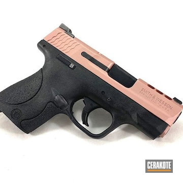 Cerakoted Smith & Wesson 9mm Handgun In H-327