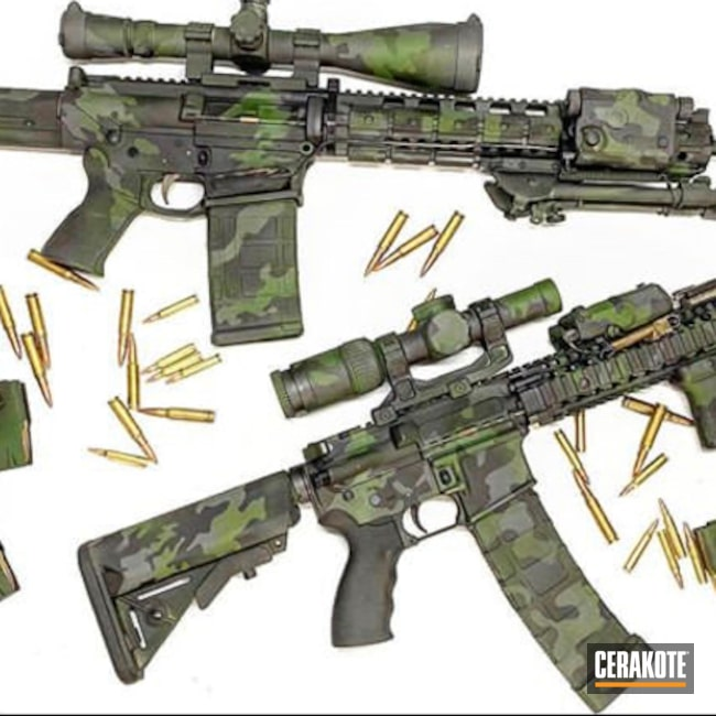 Cerakoted Multicam Custom Ar Rifles