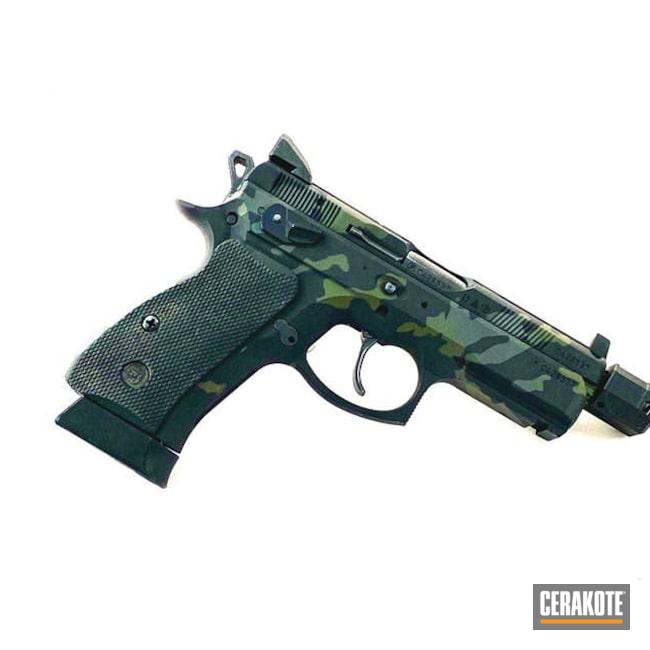 Cerakoted: MultiCam,Mil Spec O.D. Green H-240,Armor Black H-190,Pistol,CZ,SIG™ DARK GREY H-210