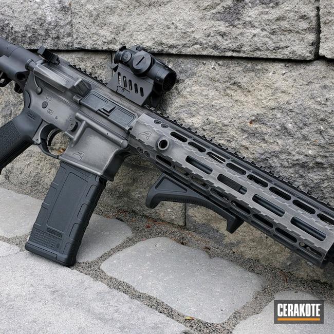 Cerakoted: S.H.O.T,Aero Precision,AR Pistol,Battleworn,m4,Aero,Graphite Black H-146,Pistol,Tactical Rifle,X15,Tactical Grey H-227,.300 Blackout