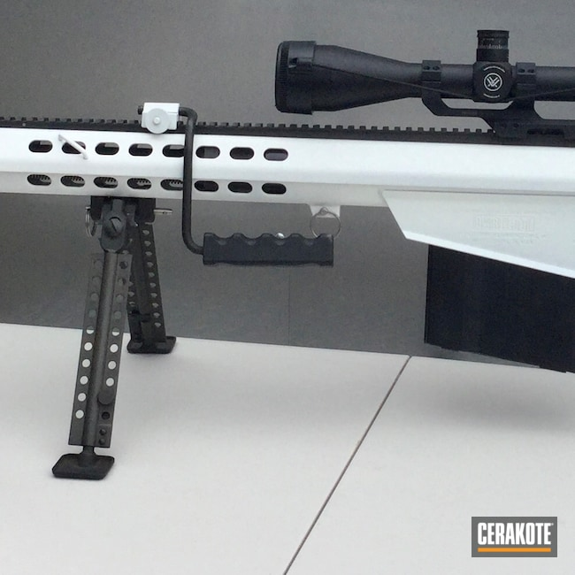 Cerakoted: Rifle,Barrett,50,50 BMG,Stormtrooper White H-297,M82A1,Tactical Rifle,50bmg