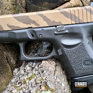 Cerakoted Riptile Camo Glock 26 In H-148 And H-294