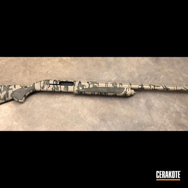 Cerakoted: MAGPUL® FLAT DARK EARTH H-267,Shotgun,Bottomland,Graphite Black H-146,11-87,Camo,12 Gauge,O.D. Green H-236,Remington