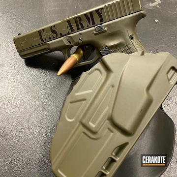 Cerakoted Army Ranger Themed .40 S&w Glock In H-109 And H-236