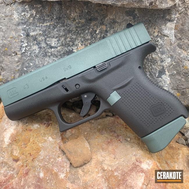 Cerakoted: Glock,CHARCOAL GREEN H-338,Glock 43