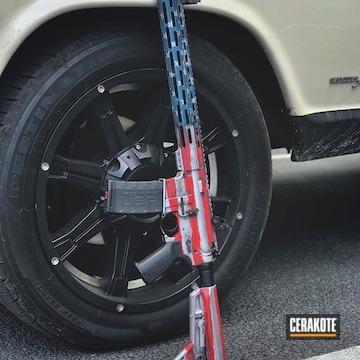 Cerakoted American Flag Themed Ar-15 Rifle