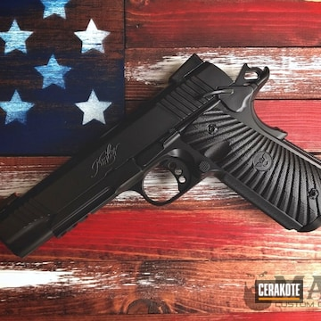 Cerakoted Black 1911 Handgun