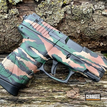Cerakoted Tiger Camo Taurus 9mm Handgun