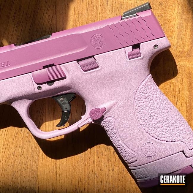 Cerakoted: Bright White H-140,9mm,M&P,Smith & Wesson,Wild Purple H-197,Shield