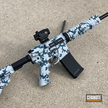 Cerakoted Smith & Wesson Multicam In H-213, H-401 And H-295