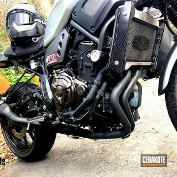 Cerakoted Black Arrow Motorcycle Exhaust