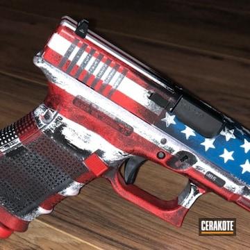 Cerakoted Distressed American Flag Glock 32
