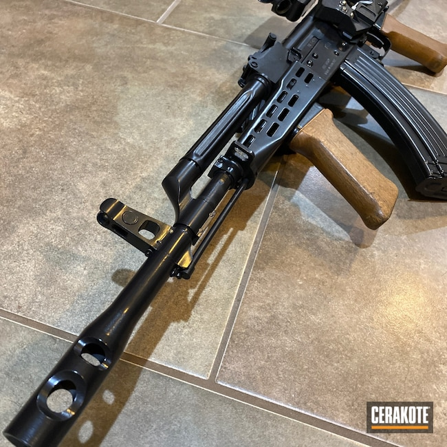 Cerakoted: SHOT,BLACKOUT E-100,#custom,7.62,AK Rifle,AK