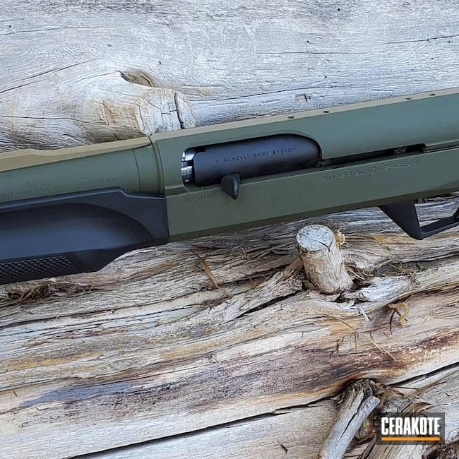 Cerakoted: SHOT,Coyote Tan H-235,Shotgun,Sniper Green H-229,Graphite Black H-146,Superblackeagle,Benelli,12 Gauge,Benelli Super Black Eagle II