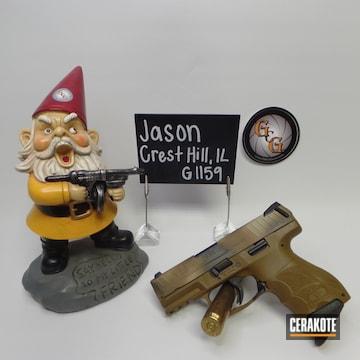 Cerakoted Custom Camo Hk Handgun In H-188, H-225 And C-30372