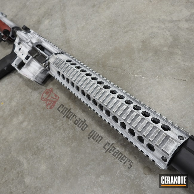 Cerakoted: Hidden White H-242,Graphite Black H-146,Distressed,Mandalorian,SMITH & WESSON® RED H-216,AR-15