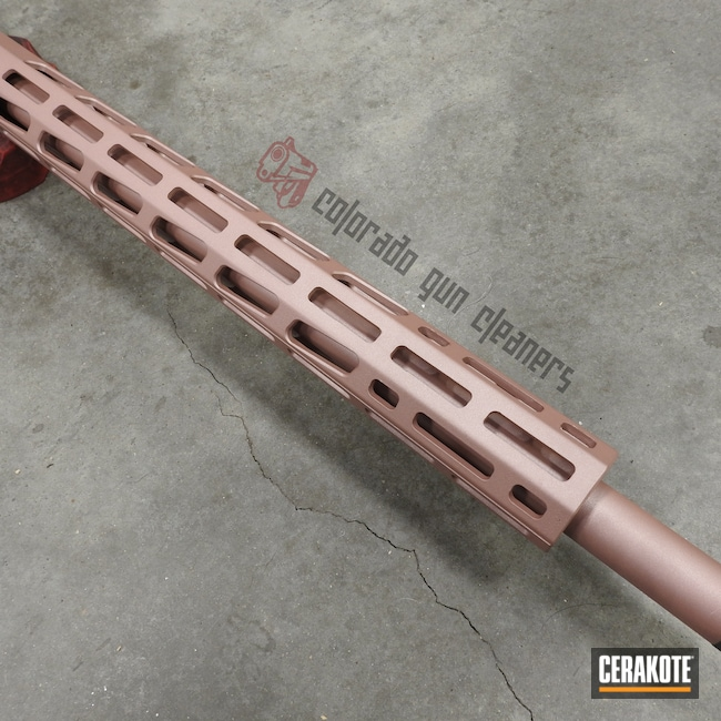 Cerakoted: S.H.O.T,Bolt Action Rifle,.17 HMR,PINK CHAMPAGNE H-311,Ruger,Ruger Precision Rifle,Tungsten H-237