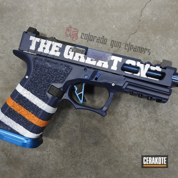 Cerakoted Gretzky Themed P80 In H-242, H-310 And H-127